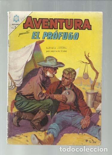 AVENTURA 351: EL PRÓFUGO, 1964, NOVARO, BUEN ESTADO. COLECCIÓN A.T. (Tebeos y Comics - Novaro - Aventura)