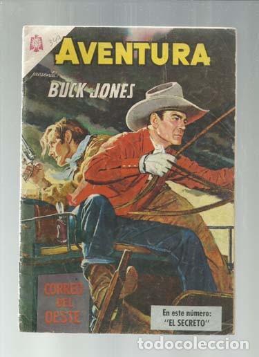 AVENTURA 349: BUCK JONES, 1964, NOVARO, BUEN ESTADO. COLECCIÓN A.T. (Tebeos y Comics - Novaro - Aventura)