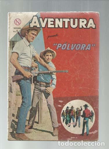 AVENTURA 323: POLVORA, 1964, NOVARO, BUEN ESTADO. COLECCIÓN A.T. (Tebeos y Comics - Novaro - Aventura)