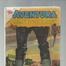 Tebeos: AVENTURA 130: HAZAÑAS DEL OESTE, 1960, NOVARO, USADO. COLECCIÓN A.T.. Lote 160453390