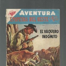 Tebeos: AVENTURA 77: EPOPEYAS DEL OESTE, 1958, ENCUADERNACIÓN. COLECCIÓN A.T.. Lote 160456802