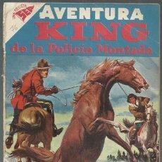 Tebeos: AVENTURA 76: KING DE LA POLICÍA MONTADA, 1958, ENCUADERNACIÓN. COLECCIÓN A.T.. Lote 160457070