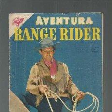 Tebeos: AVENTURA 73: RANGE RIDER, 1957, NOVARO. COLECCIÓN A.T.. Lote 160459018