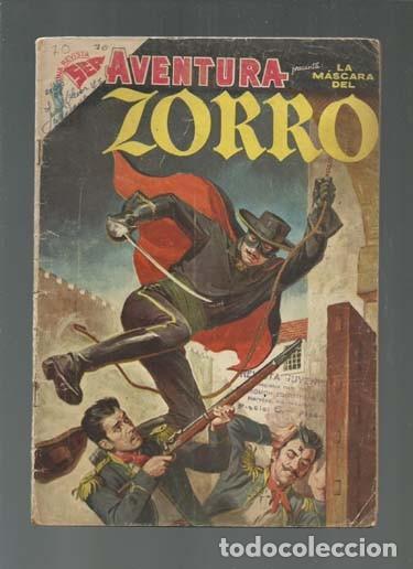 AVENTURA 70: LA MÁSCARA DEL ZORRO, 1957, NOVARO. COLECCIÓN A.T. (Tebeos y Comics - Novaro - Aventura)