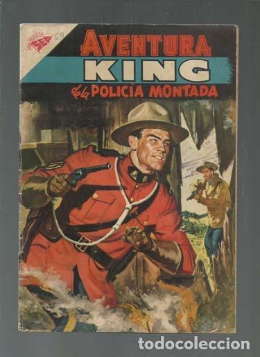 AVENTURA 64: KING DE LA PILICÍA MONTADA, 1957, NOVARO, BUEN ESTADO. COLECCIÓN A.T. (Tebeos y Comics - Novaro - Aventura)