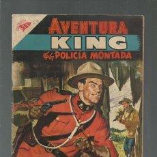 Tebeos: AVENTURA 64: KING DE LA PILICÍA MONTADA, 1957, NOVARO, BUEN ESTADO. COLECCIÓN A.T.. Lote 160459718