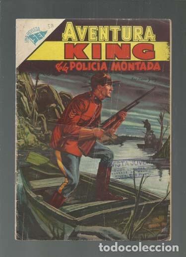 AVENTURA 58: KING DE LA POLICÍA MONTADA, 1957, NOVARO, BUEN ESTADO. COLECCIÓN A.T. (Tebeos y Comics - Novaro - Aventura)