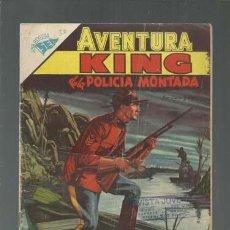 Tebeos: AVENTURA 58: KING DE LA POLICÍA MONTADA, 1957, NOVARO, BUEN ESTADO. COLECCIÓN A.T.. Lote 160460366