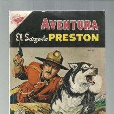 Tebeos: AVENTURA 14: EL SARGENTO PRESTON, 1955, NOVARO, BUEN ESTADO. COLECCIÓN A.T.. Lote 160464030