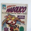 Tebeos: DIABÓLICO N° 11 (EL HOMBRE QUE NO TEME A NADA) - ORIGINAL EDITORIAL LA PRENSA (MÉXICO). Lote 160473018