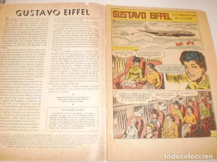 Tebeos: vidas ilustres. eiffel. 1966 editorial novaro - Foto 3 - 160537182