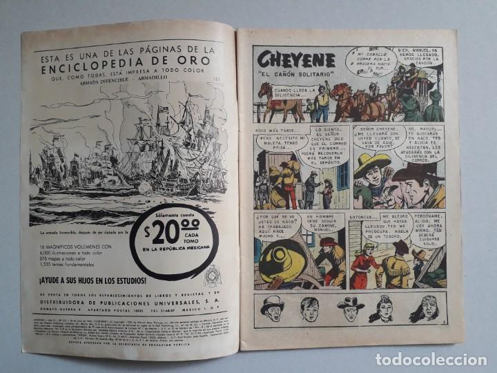 Tebeos: Aventura n° 233 - Cheyene - original editorial Novaro - Foto 2 - 160567618