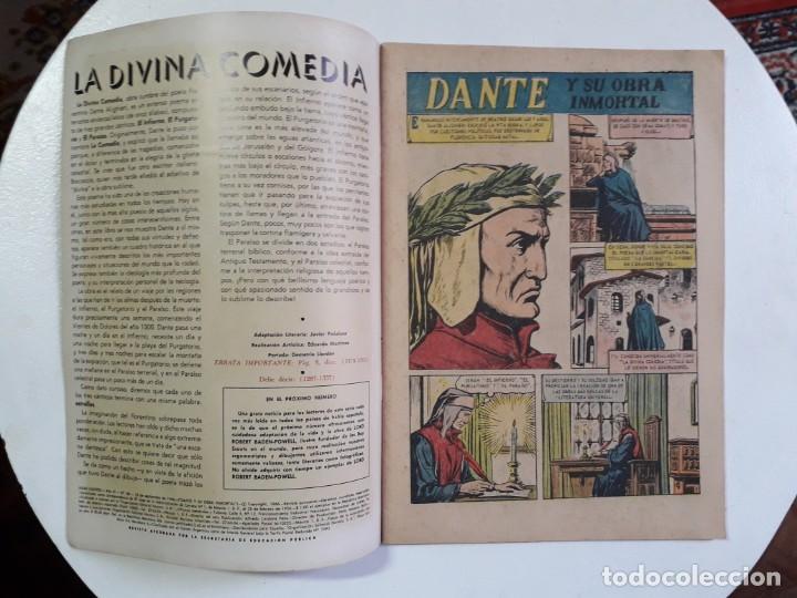 Tebeos: Vidas ilustres n° 146 - Dante y su obra inmortal - original editorial Novaro - Foto 2 - 160670626