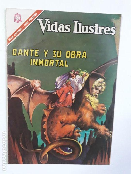 VIDAS ILUSTRES N° 146 - DANTE Y SU OBRA INMORTAL - ORIGINAL EDITORIAL NOVARO (Tebeos y Comics - Novaro - Vidas ilustres)