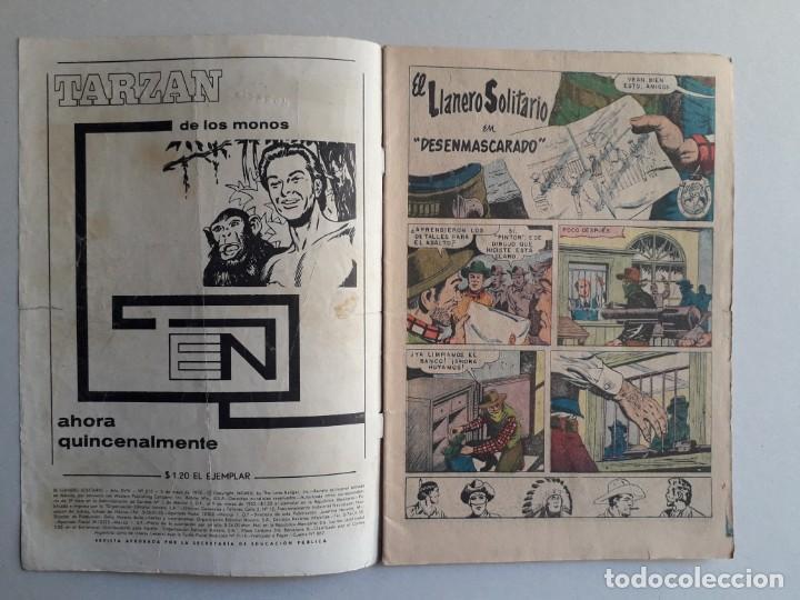 Tebeos: El llanero solitario n° 213 - original editorial Novaro - Foto 2 - 160930690