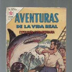 Tebeos: AVENTURAS DE LA VIDA REAL 92: EXPEDICIÓN EXTRAORDINARIA, 1963, NOVARO, USADO. COLECCIÓN A.T.. Lote 160949754