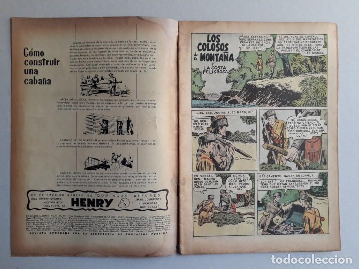 Tebeos: Domingos alegres n° 143 - Colosos de la montaña - original editorial Novaro - Foto 2 - 161078330