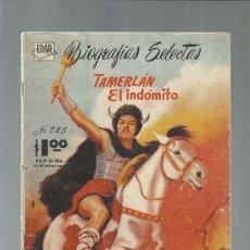 Tebeos: BIOGRAFIAS SELECTAS 225: TAMERLÁN EL INDÓMITO, 1963. COLECCIÓN A.T.. Lote 161079942
