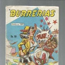 Tebeos: BURRERIAS 80, 1969, EDITORMEX. COLECCIÓN A.T.. Lote 161082130