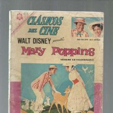 Livros de Banda Desenhada: CLÁSICOS DEL CINE 137: MARY POPPINS, 1965, EXTRAORDINARIO NOVARO, USADO. COLECCIÓN A.T.. Lote 161941662