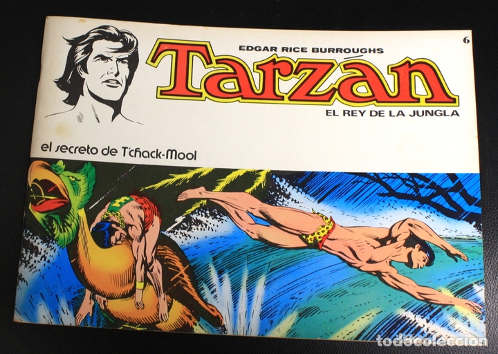 TARZAN. EDGAR RICE BURROUGHS. Nº 6. EL SECRETO DE TCHACK-MOOL. NOVARO, 1976 (Tebeos y Comics - Novaro - Tarzán)