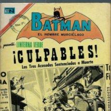 Tebeos: BATMAN - Nº 618 - SENTENCIADOS A MUERTE - NOVARO - 24 FEBRERO 1972 - BIEN CONSERVADO. Lote 162381934