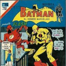 Tebeos: BATMAN - SERIE AGUILA - Nº 802 - EL SECRETO MORTAL DE FLASH - NOVARO 1975 - BIEN CONSERVADO. Lote 162382266