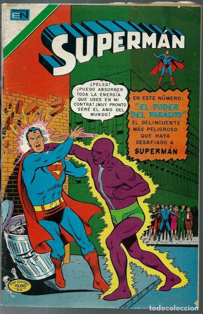 SUPERMAN - SERIE AVESTRUZ Nº 3-37 - EL PODER DEL PARASITO - NOVARO 1978 - UNICO EN TC (Tebeos y Comics - Novaro - Superman)