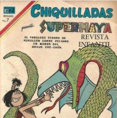 Tebeos: CHIQUILLADAS Nº 276 SUPERMAYA 1970 EDICIONES NOVARO MEXICO MAYAS COMIC ORIGINAL REVISTA INFANTIL. Lote 162648826