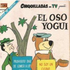 Tebeos: CHIQUILLADAS TV EL OSO YOGUI HANNA BARBERANº 231 EN NOVARO 1968 EDITADA MEXICO. Lote 162649514