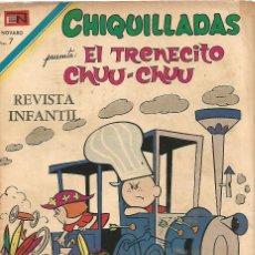 Tebeos: CHIQUILLADAS EL TREN CHUU CHUU Nº 287 EN NOVARO 1970 REVISTA ORIGINAL EDITADA EN MEXICO. Lote 162650110