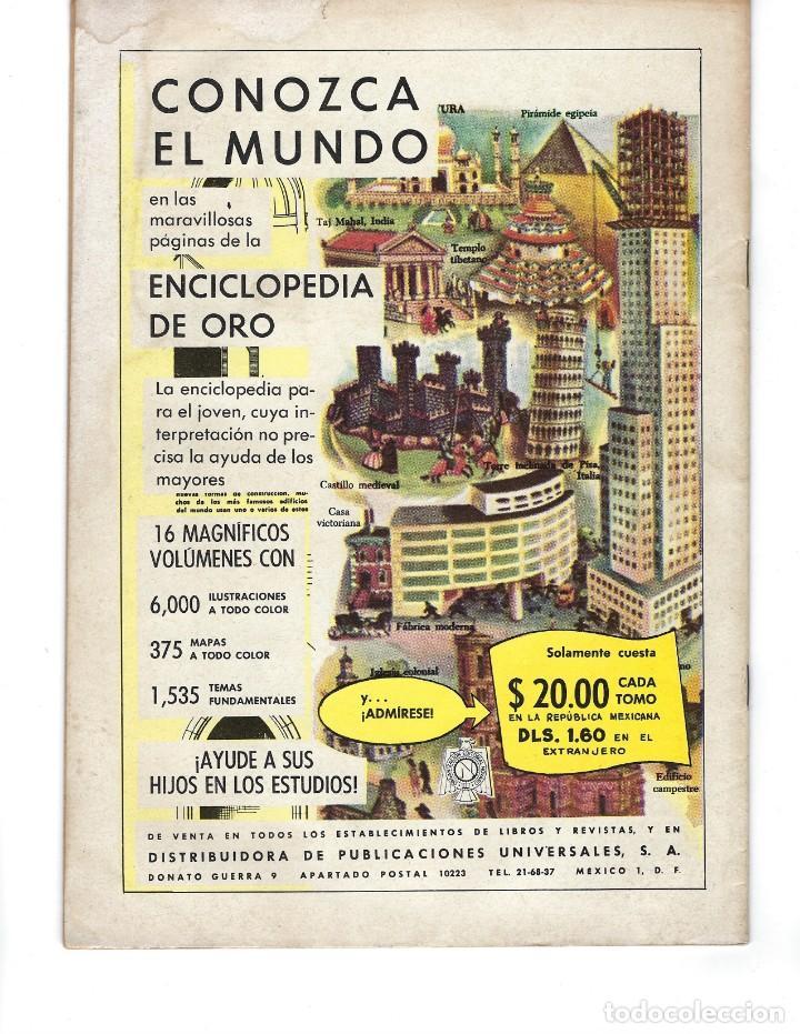 Tebeos: EPOPEYA - AÑO IV - Nº 48, 1º DE MAYO DE 1962 *NOVARO MÉXICO - EDICIONES RECREATIVAS* - Foto 2 - 162906230
