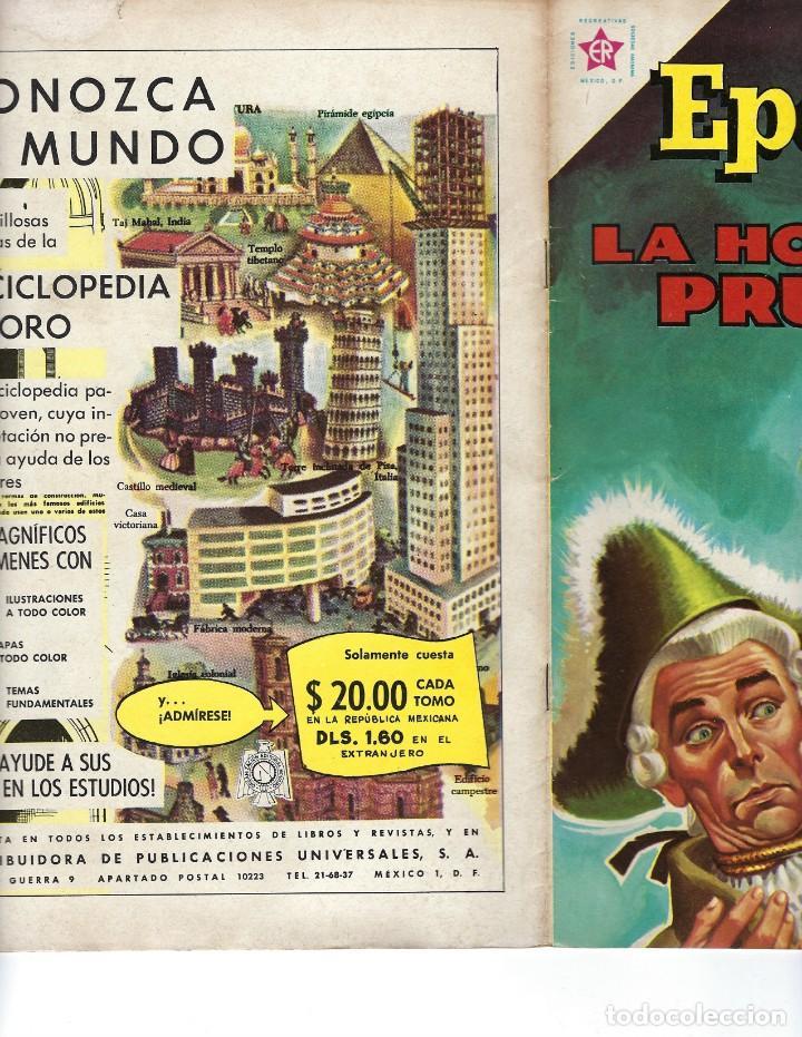 Tebeos: EPOPEYA - AÑO IV - Nº 48, 1º DE MAYO DE 1962 *NOVARO MÉXICO - EDICIONES RECREATIVAS* - Foto 3 - 162906230
