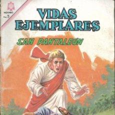 Tebeos: VIDAS EJEMPLARES Nº 219 SAN PANTALEON CORLEON EDITORIAL NOVARO 1966. Lote 162944770