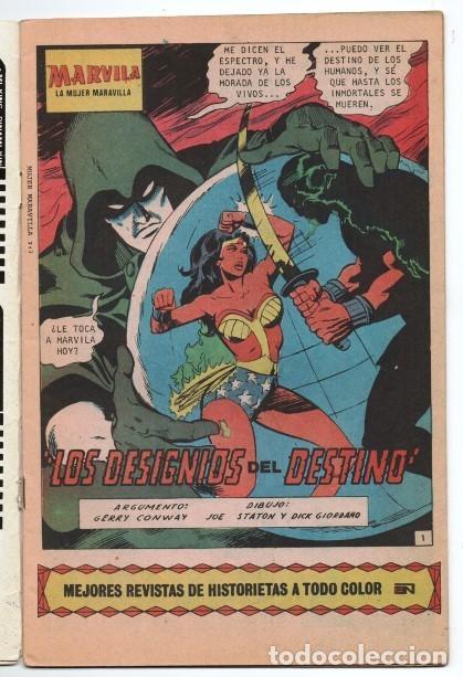 Tebeos: MARVILA # 3-242 NOVARO 1980 WONDER WOMAN & SUPERMAN MOULTON CONWAY GIORDANO STATON EL ESPECTRO - Foto 2 - 163987630