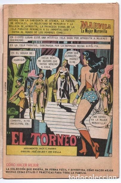Tebeos: MARVILA # 3-251 NOVARO 1981 WONDER WOMAN MOULTON GIELLA DELBO HARRIS DIANA VS ORANA NUEVA MARVILA BU - Foto 2 - 164356158