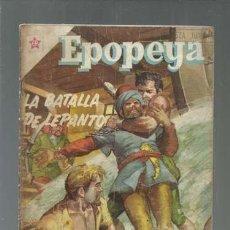 Tebeos: EPOPEYA 2: LA BATALLA DE LEPANTO, 1958, NOVARO, USADO. COLECCIÓN A.T.. Lote 164471566