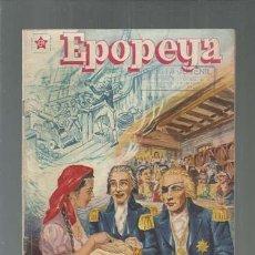 Tebeos: EPOPEYA 5: NELSON, EL HÉROE DE TRAFALGAR, 1958, NOVARO, BUEN ESTADO. COLECCIÓN A.T.. Lote 164474018