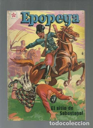 EPOPEYA 11: EL SITIO DE SEBASTOPOL, 1959, NOVARO, BUEN ESTADO. COLECCIÓN A.T. (Tebeos y Comics - Novaro - Epopeya)