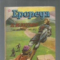Tebeos: EPOPEYA 16: EL RESUCITADO, 1959, NOVARO, BUEN ESTADO. COLECCIÓN A.T.. Lote 164481026