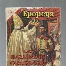 Tebeos: EPOPEYA 21: LAS HAZAÑAS DE CARLOMAGNO, 1960, NOVARO. COLECCIÓN A.T.. Lote 164500538