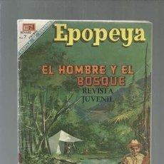 Tebeos: EPOPEYA ESPECIAL 1 NOBVEMBRE 1968: EL HOMBRE Y EL BOSQUE, NOVARO, USADO. COLECCIÓN A.T.. Lote 164506502