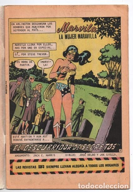 Tebeos: MARVILA # 3-250 NOVARO 1981 WONDER WOMAN MOULTON MUJER HALCON JACK HARRIS DELBO GIELLA MUY BUEN ESTA - Foto 2 - 164570122
