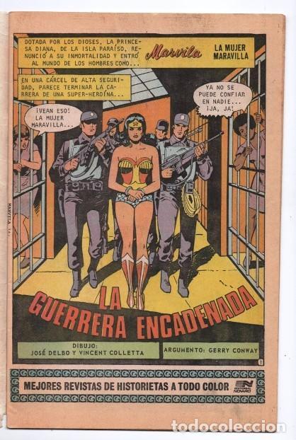Tebeos: MARVILA # 3-261 NOVARO 1981 WONDER WOMAN MOULTON COLLETTA DELBO GERRY CONWAY EL DIOS MARTE - Foto 2 - 164769874