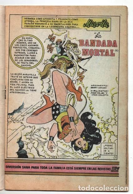 Tebeos: MARVILA # 3-265 NOVARO 1981 WONDER WOMAN MOULTON LA MASCARA DEL MISTERIO EXCELENTE CONWAY - Foto 3 - 164770418