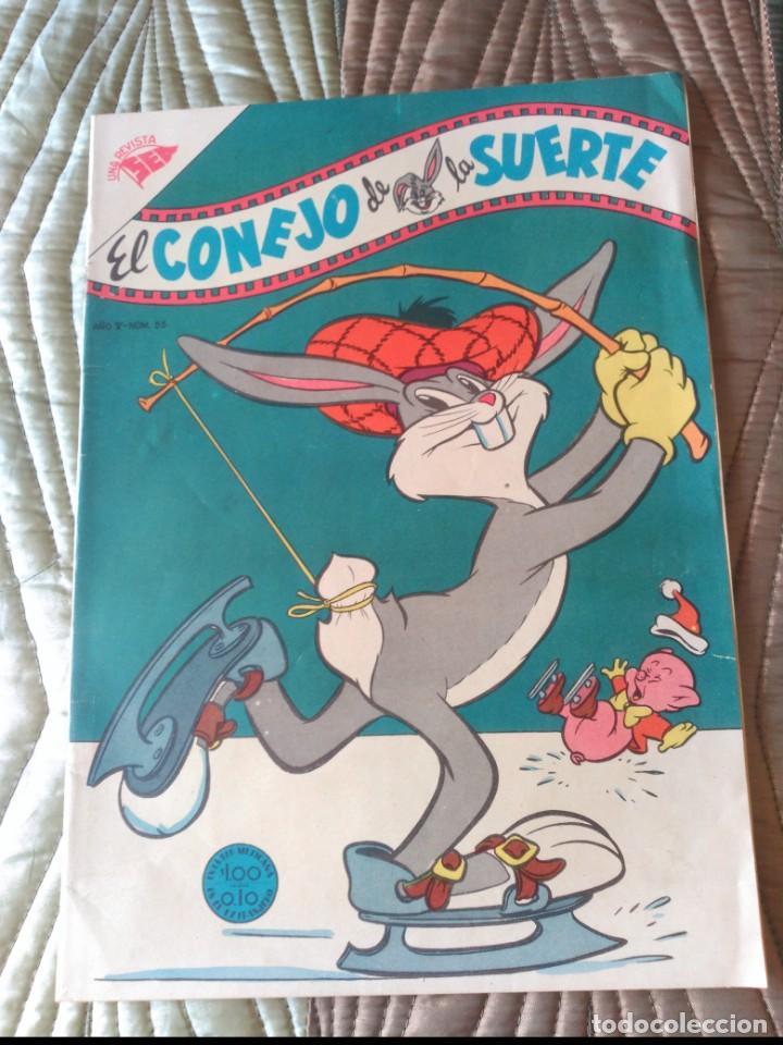 EL CONEJO DE LA SUERTE Nº 55 MUY DIFÍCIL EN ESTE ESTADO. (Tebeos y Comics - Novaro - El Conejo de la Suerte)