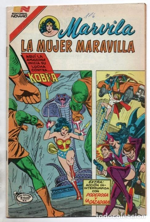 MARVILA # 3-277 NOVARO 1982 WONDER WOMAN TIERRA DOS CAZADORA KOBRA PODEROSA GIELLA CONWAY STATON LEV (Tebeos y Comics - Novaro - Sci-Fi)