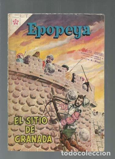EPOPEYA 28: EL SITIO DE GRANADA, 1960, NOVARO, BUEN ESTADO. COLECCIÓN A.T. (Tebeos y Comics - Novaro - Epopeya)