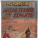 Tebeos: HISTORIETAS NUMERO 377. MIEDO, TERROR, ESPANTO. EDITORA SOL 1957. Lote 165309690