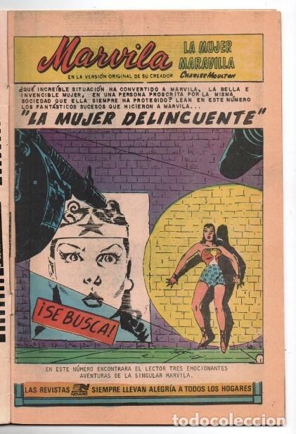 Tebeos: MARVILA # 3-290 NOVARO 1982 WONDER WOMAN MOULTON LA MUJER DELINCUENTE LOS SELLOS DE LA MUERTE 1959 - Foto 2 - 165417298